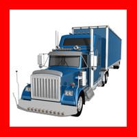 maya realistic truck trailer