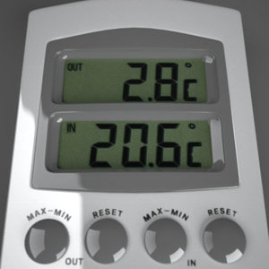 3d model thermometer maxwell lcd
