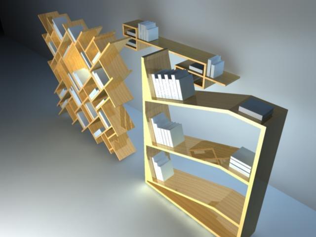 bookshelfs 3d ma