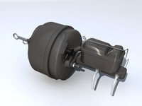 master cylinder booster 3d model