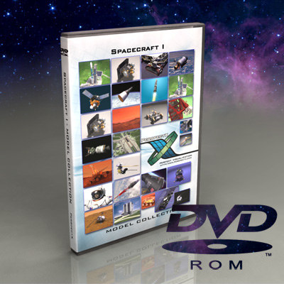spacecraft dvd 3d model