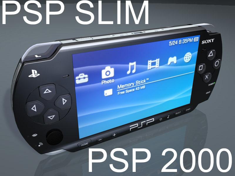 psp playstation portable slim max