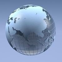 3d earth continents