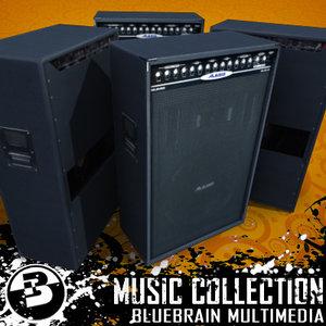 3d model electric guitars amp