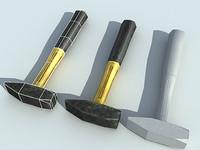 3d model hammer realtime polygons