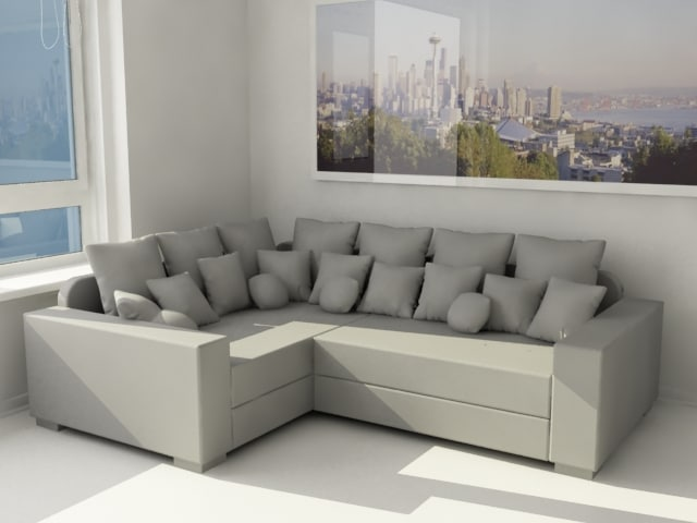 3ds max corner sofa
