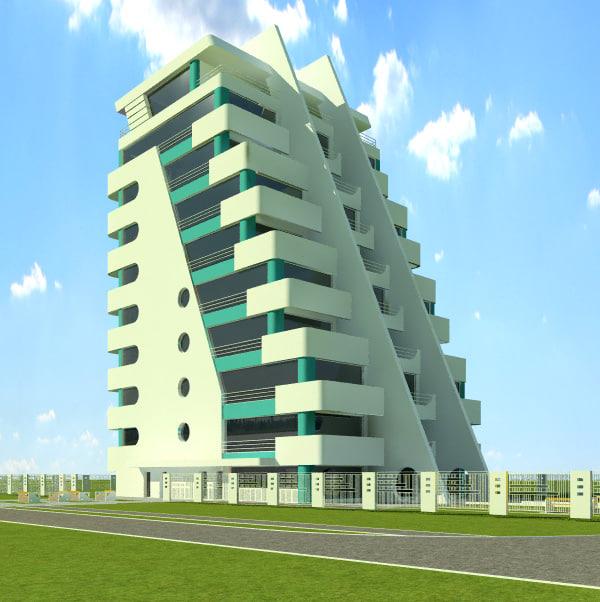 3d model house hotel v2