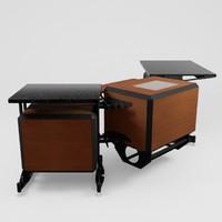 sales computer desk 3d model