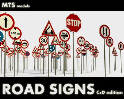 3d road signs model