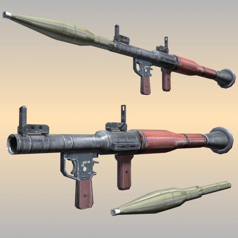 3dsmax rpg-7 arab rebel