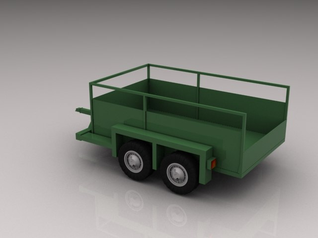 3d jlg trailer model