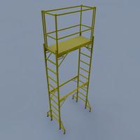 metal scaffolding 3d model