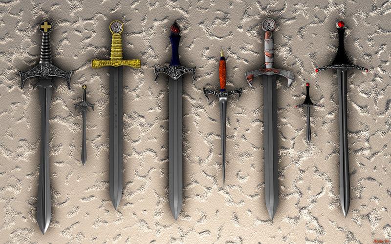 3d model sword set