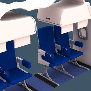 aircraft interior airplane air 3d cob