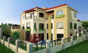 villa 1 3d model