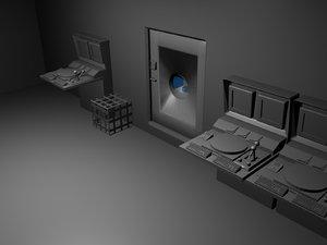 room control 3d model