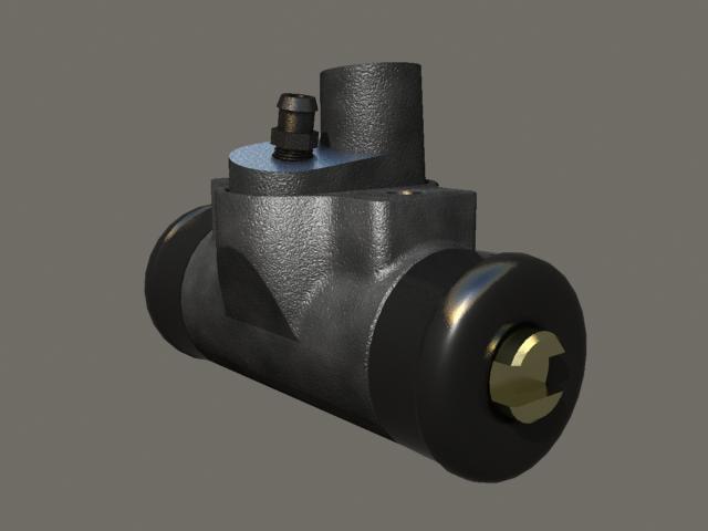 wheel cylinder 3d model
