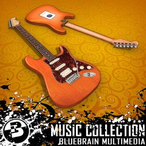 electric guitar 3d lwo