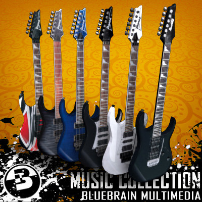 3d electric guitars model