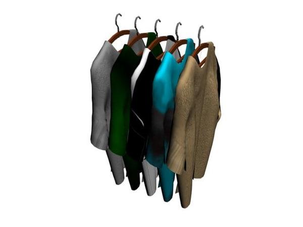 3dsmax hanger cloth cabide
