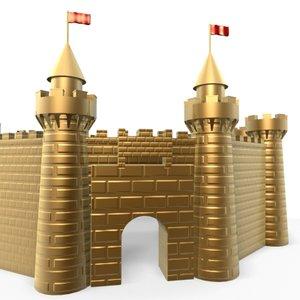 3d golden castle