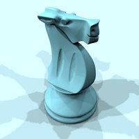 Horse chess obj