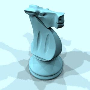 horse chess piece 3d model