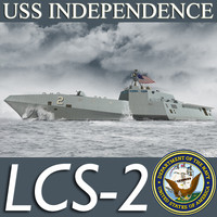 US Navy Littoral Combat Ship (General Dynamics) LCS-2 Independence MAX 3DS OBJ