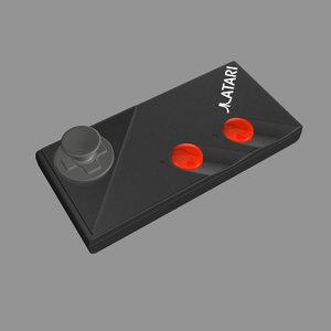 atari gamepad 3d model