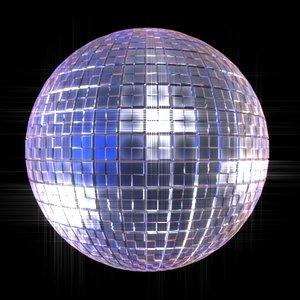 disco glitter ball 3d model