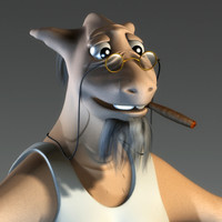 3dsmax character goatfather