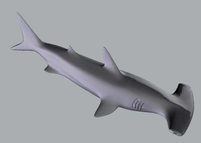 shark hammerhead fish 3d 3ds