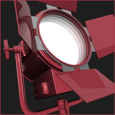 3d model studio stage light