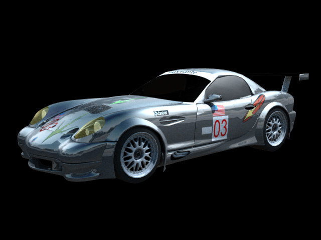 race concept car panoz 3d 3ds