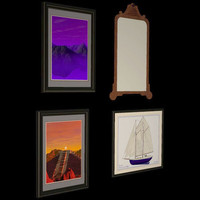 3am picture framed wall mirror 3d model
