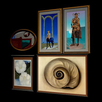 3d model of 4om picture framed wall mirror