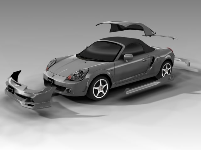 3d model toyota mr-s