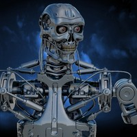 terminator robot 3d max