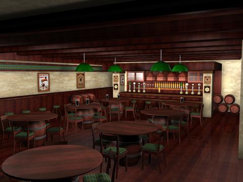 cinema4d irish pub