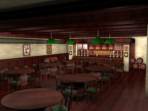 cinema4d irish pub