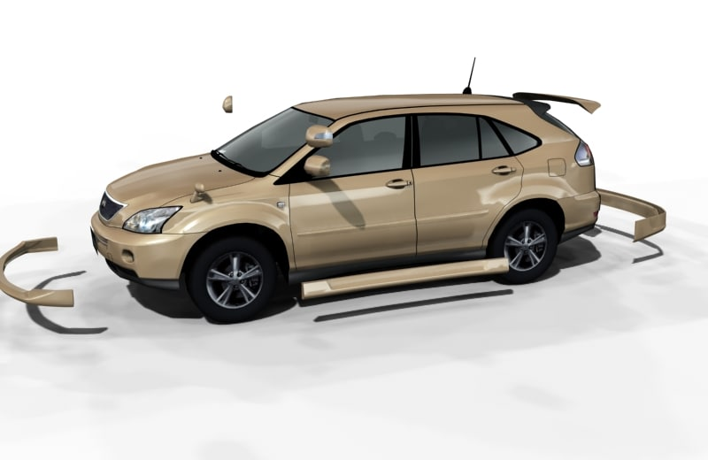 free toyota harrier hybrid 3d model