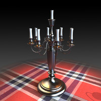 lamp candlestick 3d model