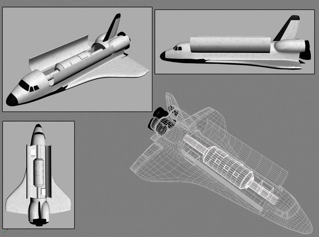 3d model nasa shuttle