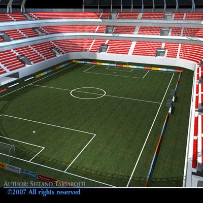 3d soccer arena