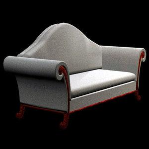 3d model antique sofa pzsofa asm