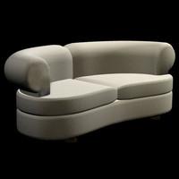 3d model small sofa pzsofa msm