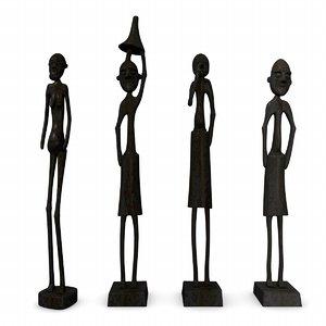 statuettes african 3d 3ds
