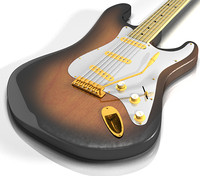 Electric Guitar - Classic Stratocaster for LightWave