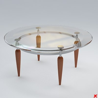 free table cocktail 3d model
