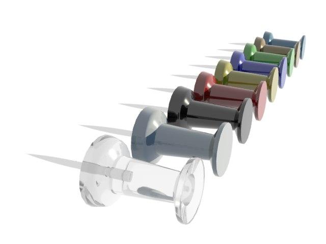 3d thumbtack tack model